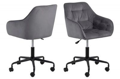 Kancelářská židle Alarik tmavě šedá
