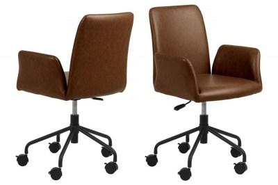 Kancelářská židle Allison hnědá koženka