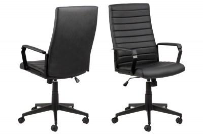 Kancelářská židle Triston černá koženka