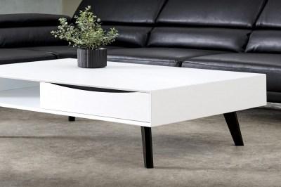 Konferenční stolek Aaden, bílá / černá