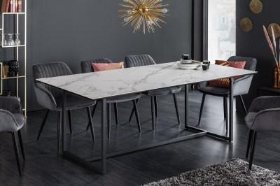 Keramický jídelní stůl Sloane 200 cm bílý mramor