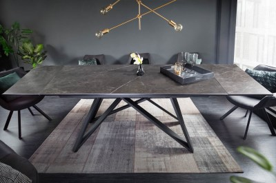 Roztahovací keramický stůl Callen 180-220-260 cm grafit