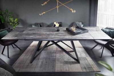Roztahovací keramický stůl Callen 180-220-260 cm láva