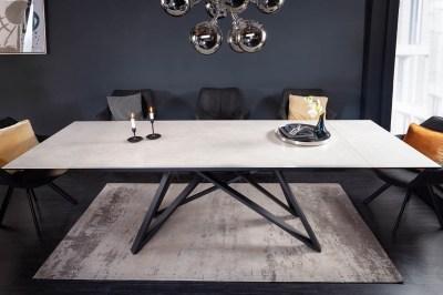 Roztahovací keramický stůl Callen 180-220-260 cm beton