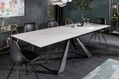 Keramický jídelní stůl Kody 180-230 cm vzor mramor