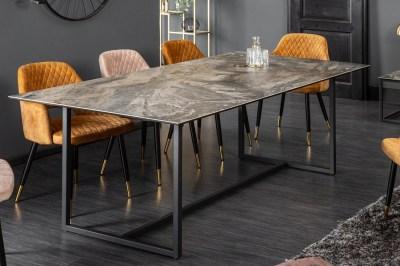 Keramický jídelní stůl Kody 200 cm mramor taupe