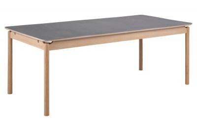 Keramický jídelní stůl Naava 200 cm šedý - dub