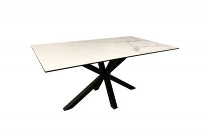Keramický jídelní stůl Neele 160 cm bílý