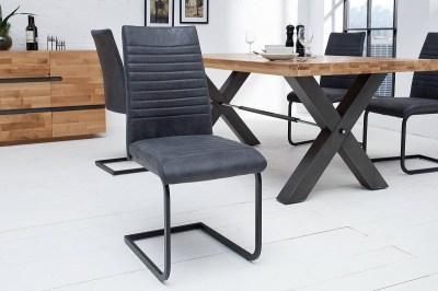 Konzolová židle Douglas antik šedá - černá