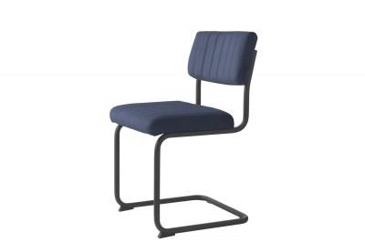 Konzolová židle Javon modrý samet