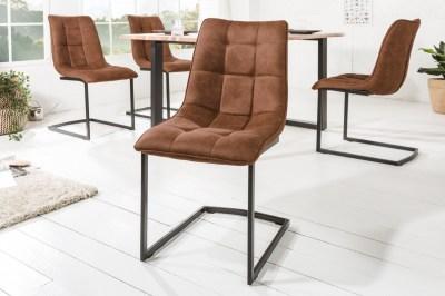 Konzolová židle Gunner hnědá