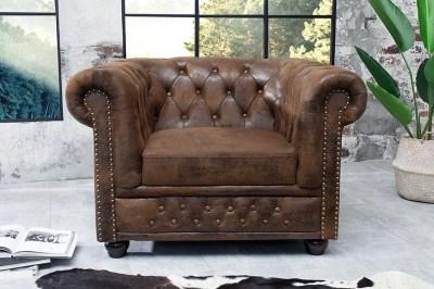 Luxusní vintage křeslo Chesterfield II