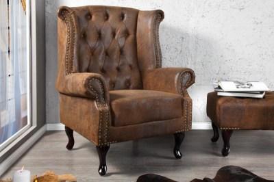 Luxusní křeslo Chesterfield Vintage