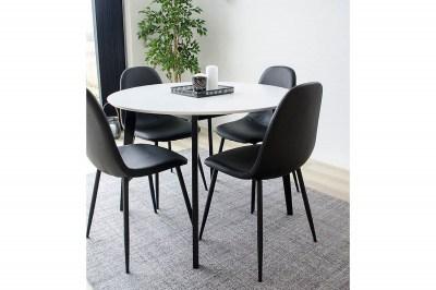 Kulatý jídelní stůl Carmen, černý / bílý