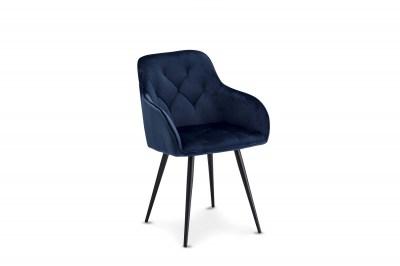 Luxusní jídelní židle Aegis, modrá