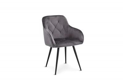 Luxusní jídelní židle Aegis, šedá