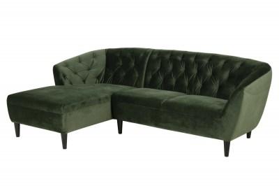 Luxusní sedací souprava Nyree 222 cm levá lesní zelená