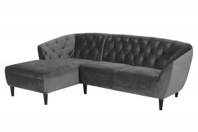 Luxusní sedací souprava Nyree 222 cm levá tmavě šedá