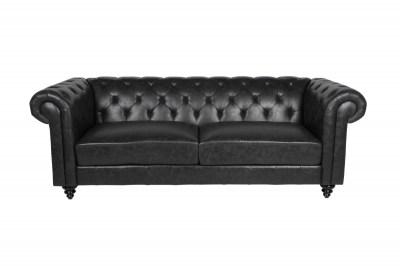 Luxusní sedačka Ninette Chesterfield černá