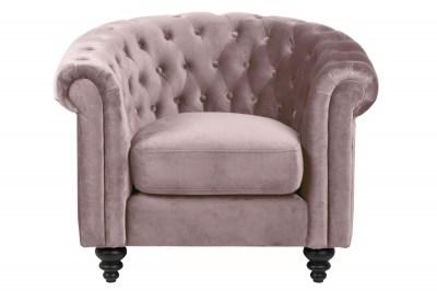 Luxusní křeslo Ninetta světle růžové