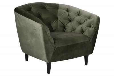 Luxusní křeslo Nyree Lesno zelené