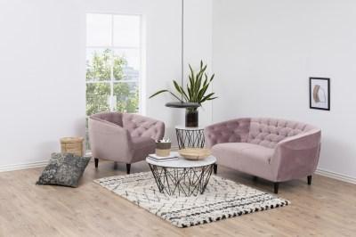 Luxusní křeslo Nyree světle růžové