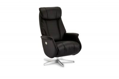 Luxusní relaxační křeslo Abdirahman, černé