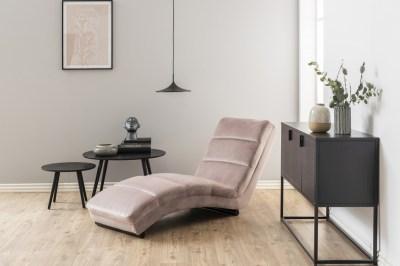 Luxusní relaxační křeslo Nana světle růžové