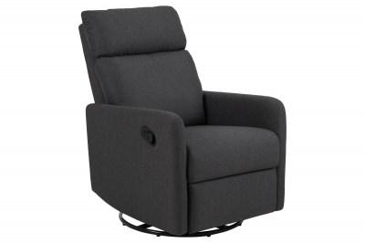 Luxusní relaxační křeslo Nordica, šedé