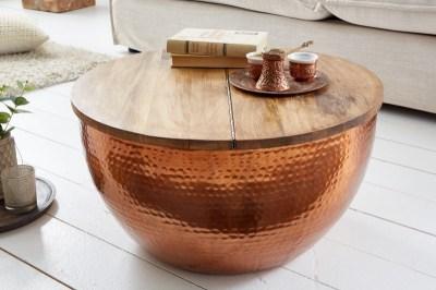 Designový konferenční stolek Malia orient měděný