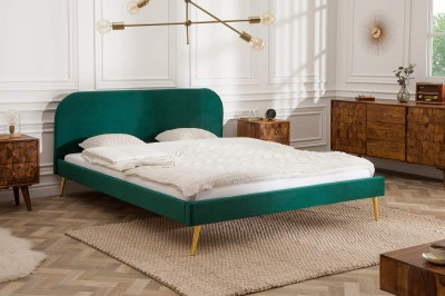Manželská postel Lena 140 x 200 cm - zelený samet