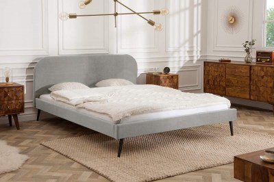 Manželská postel Lena 160 x 200 cm - stříbrný samet