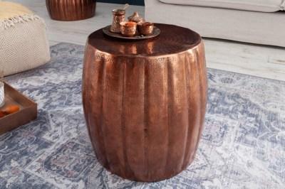 Designový odkládací stolek Maroko 42 cm měděná barva