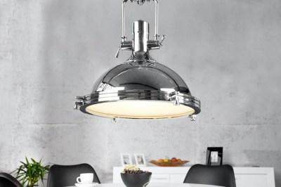 Designová závěsná lampa Commercial 45cm chromová