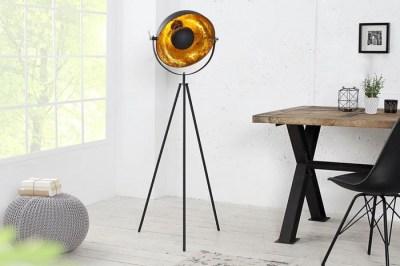 Designová stojanová lampa Stage 140cm černo-zlatá
