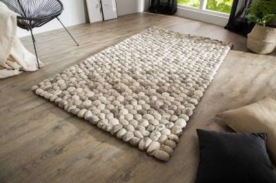 Designový koberec Jayda 200x120 šedá plsť