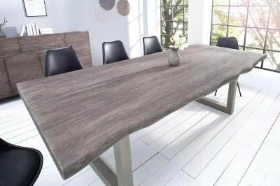 Luxusní jídelní stůl z masivu Massive 240 cm / akácie-šedá