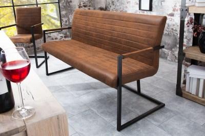 Designová lavice Maximiliano vintage hnědá
