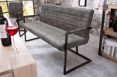 Designová lavice Maximiliano vintage šedá