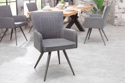 Dizajnové křeslo Malik vintage šedé