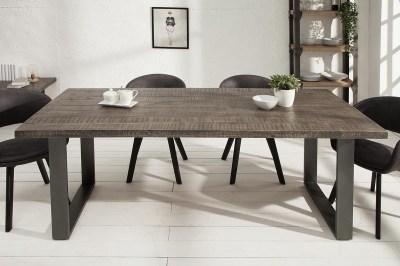 Luxusní jídelní stůl Thunder 160 cm šedé mango