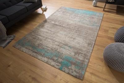 Designový koberec Rowan 240x160 šedobéžový modrý