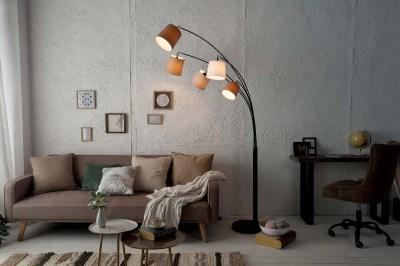 Designová oblouková stojanová lampa Shadow II