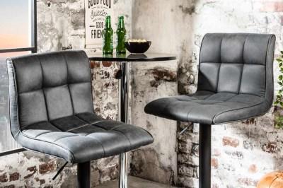 Designová barová židle Modern vintage šedá