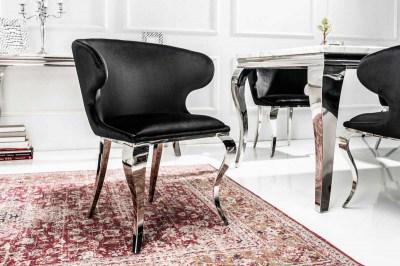 Designová židle Rococo II černý samet