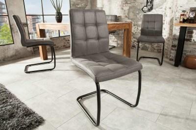 Designová konzolová židle Moderna, šedá