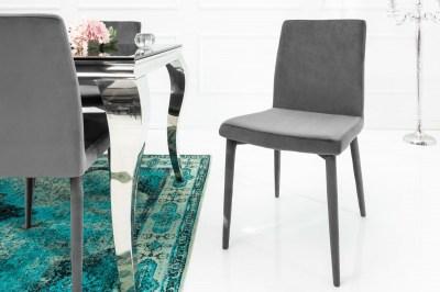 Designová židle Neapol, šedý samet