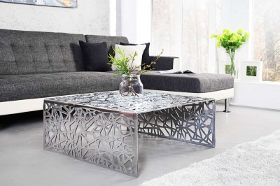 Designový stolek Pablo 60 cm stříbrný