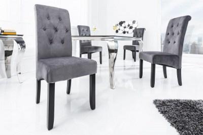 Designová stolička Clemente s podhlavníkem šedá