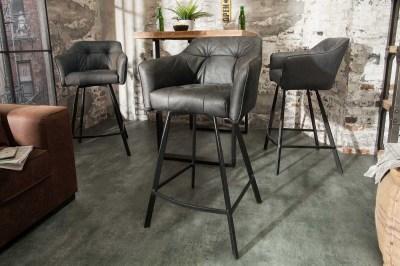 Designová barová židle Giuliana, antik šedá